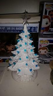 white-tree-blue-lights